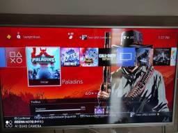PS4 Slim 500GB HD 1 TB + 5 jogos físico ZAP 988-540-491 aceito cartão
