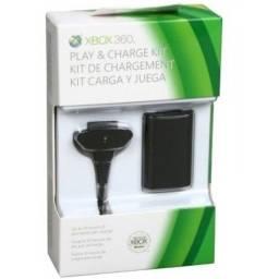 Carregador e Bateria Para Controle Xbox 360 48000mah