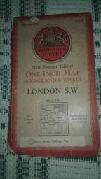 Mapa antigo Londres Leia !