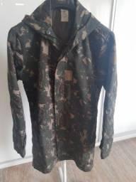 Japona / casaco camuflado com capuz tamanho P