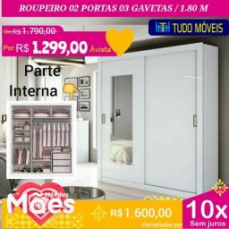 PROMOÇÃO DAS MÃES / ROUPEIRO 1.80M COM ESPELHO