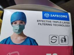 Kit pacote com 10x máscaras tripla TNT adulta confortável