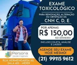 Exame toxicológico do Detran no Méier