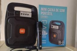 Com microfone mini Caixinha 175.00