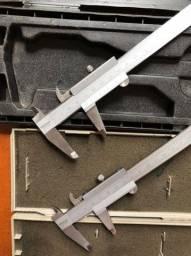 Paquímetros Mitutoyo (2) 150 mm precisão 0,02 com estojo perfeito estado