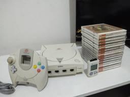 Dreamcast japonês HKT 3000 revisão Ugo Denshi 15 jogos originais