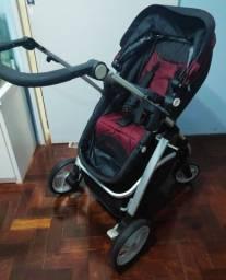 Vendo carrinho de bebê Dzieco Maly vinho