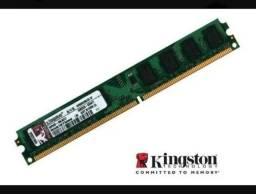Memória Kingston Pc Ddr2 800mhz 2 Gb <br>Funcionando perfeitamente