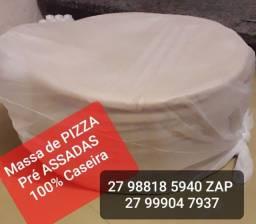 Massa de PIZZA pré ASSADAS