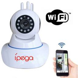 Câmera IP Wifi 3 Antenas UltraHD 1080p - Filma e grava, inclusive em escuridão total