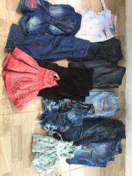 Lote de roupa jeans e sapato para brexo !!