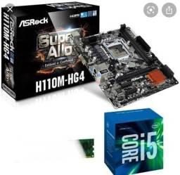 Processador i5 7400 + placa mãe h110M