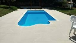 Js- Promoção piscina de Fibra *Instalada *com prainha *7,00x300x1,30
