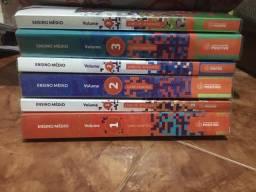 livros volume 1,2 e 3 da positivo primeiro ano do ensino médio praticamente novos