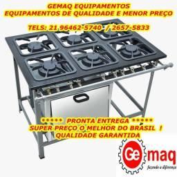 Fogão industrial 6 bocas com forno Industrial Novo e com garantia!