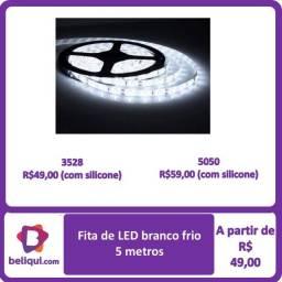 Fita de LED   Luz branca   5 metros