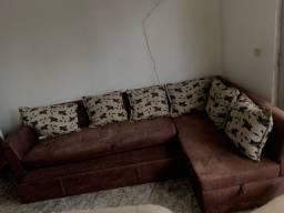 Sofá 2.90m de canto c cama - entrega