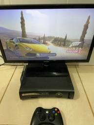 Xbox 360 com jogos mais TV