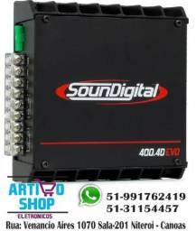 Modulo Soundigital Sd400.4 400w rms 4 Canais