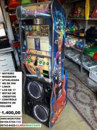 Maquina de musicas completa noteiro,moedeiro,hd 500,lcd,linux,led,controle so 1.400,00