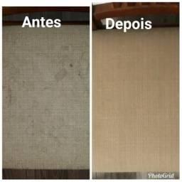 Limpeza a seco e impermeabilização de estofados