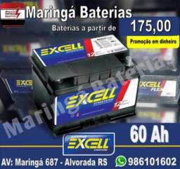 Bateria Excell 60 Ah - *175,00