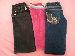 Lote - 3 calças tamanho 6