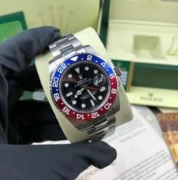 4da85eeaacb Relógio Rolex Gmt Master 2 Pepsi Eta Suiço + Caixa E Documentos