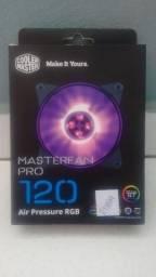 Fan RGB P/ Gabinete Masterfan PRO 120MM Air pressure ? CoolerMaster (NOVO)