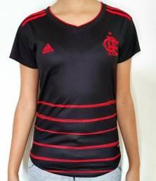 Camisa Flamengo - Uniforme Feminino - Envio por Sedex em 24 horas