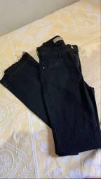 Vendo calça jeans preta e vestido longo