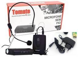 Microfone sem fio Tomate MT-2201 omnidirecional