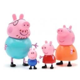 Kit 4 Unidades peppa pig original figura de ação bonecas Família Peppa