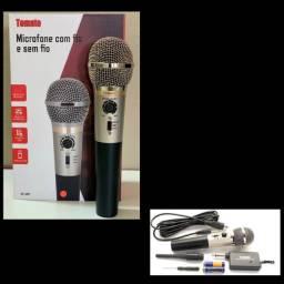Microfone com fio e sem fio