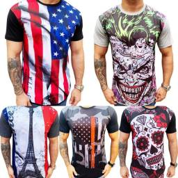 Kit 5 camisetas long line masculina