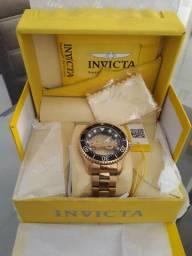 Relogio INVICTA Original fundo de vidro ,Lindo !!!