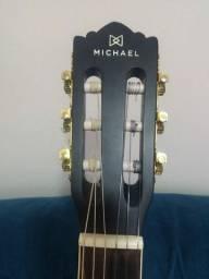 Violão Michael cordas de nylon elétrico entrada p10