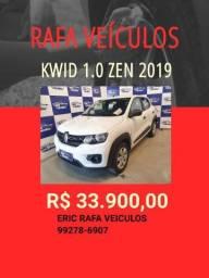 KWID ZEN 1.0 2019 R$ 33.900,00!! ENTRADA A PARTIR DE R$ 1.000,00 RAFA VEÍCULOS