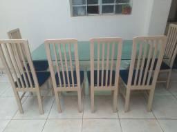 Estante aparador mesa com 6 cadeiras