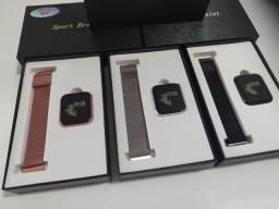 Relógio Smartwatch P70 Android IOS + Pulseira extra