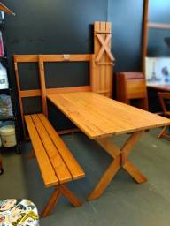 Mesa de Parede em madeira Maciça