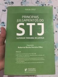 Livros de direito. Principais Julgamentos do STF e Principais Julgamentos do STJ