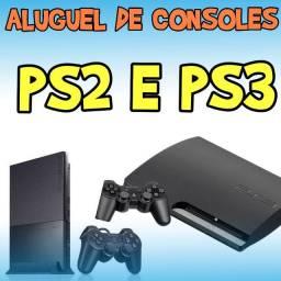 Aluguel de PS2 e PS3!
