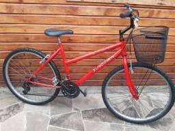 Bike aro 26 18 MARCHAS feminina com Cestinha