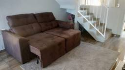 Lindo sofá retratil e reclinavel