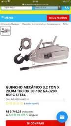 Tirfor Guincho Mecânico 3,2 toneladas