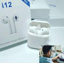 Fone de ouvido sem fio i12-TWS