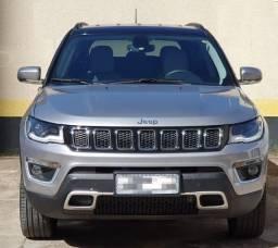 Jeep Compass Limited Diesel 4x4 2020 Prata teto Preto ÚnicaDona Banco Couro Branco SkyGray