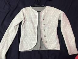 Jaqueta branca  com corações P