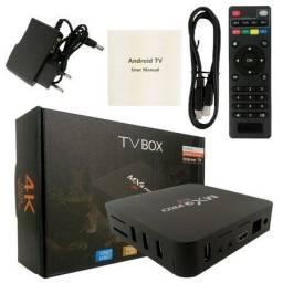 Tv Box Smart Android 4K 10.0 5G RAM 4GB + 64GB - MX Q Pro